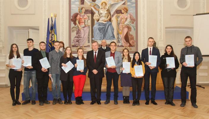 Congratulations to Dina Koltysheva, 6th year student, on receiving the nominal scholarship of the Verkhovna Rada of Ukraine
